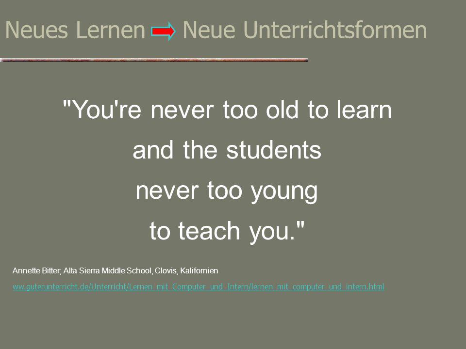 Neues Lernen Neue Unterrichtsformen