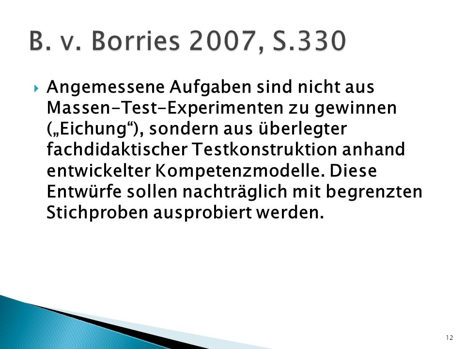 B. v. Borries 2007, S.330