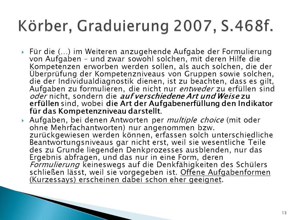 Körber, Graduierung 2007, S.468f.