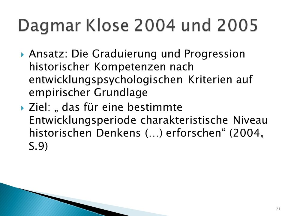 Dagmar Klose 2004 und 2005