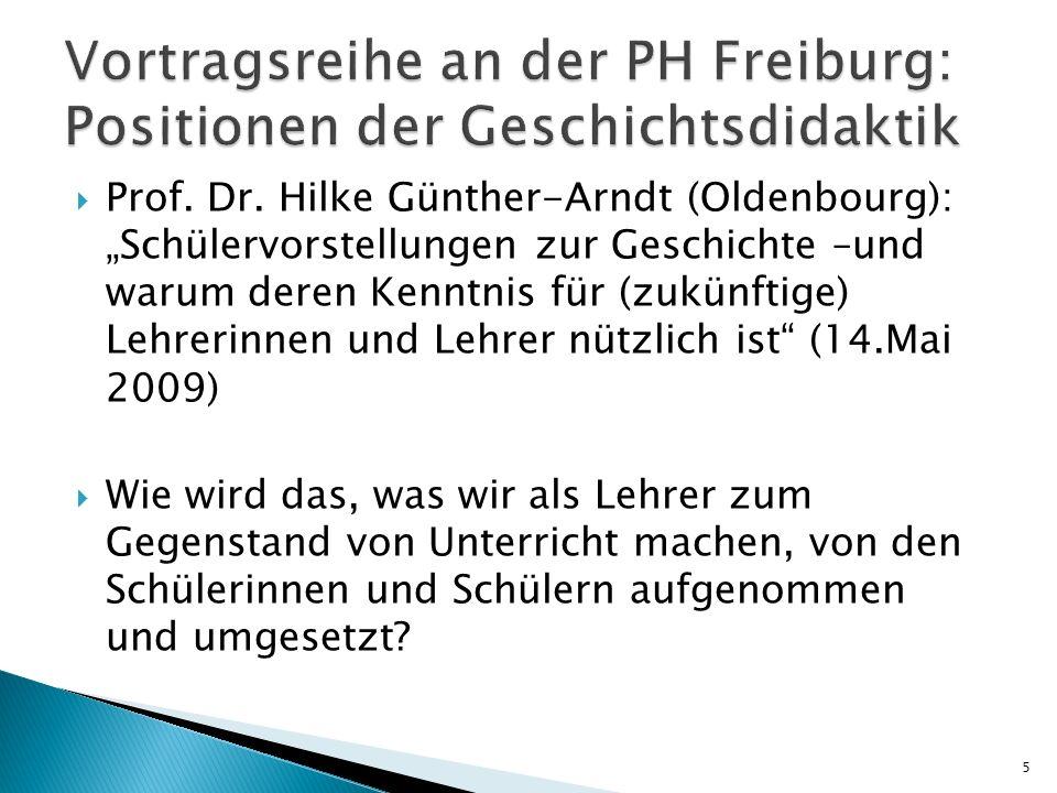 Vortragsreihe an der PH Freiburg: Positionen der Geschichtsdidaktik