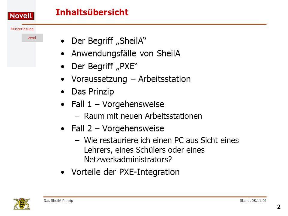 """Anwendungsfälle von SheilA Der Begriff """"PXE"""
