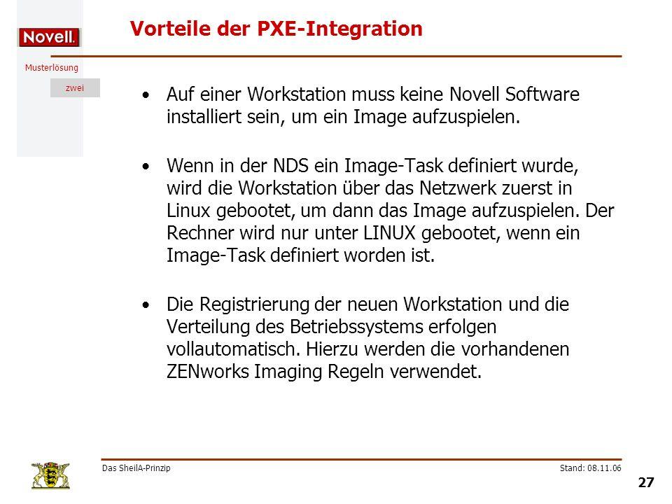 Vorteile der PXE-Integration
