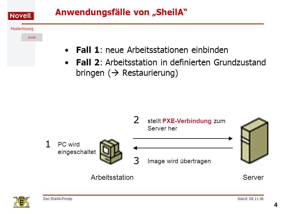 """Anwendungsfälle von """"SheilA"""