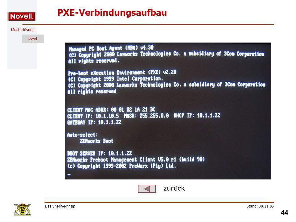 PXE-Verbindungsaufbau