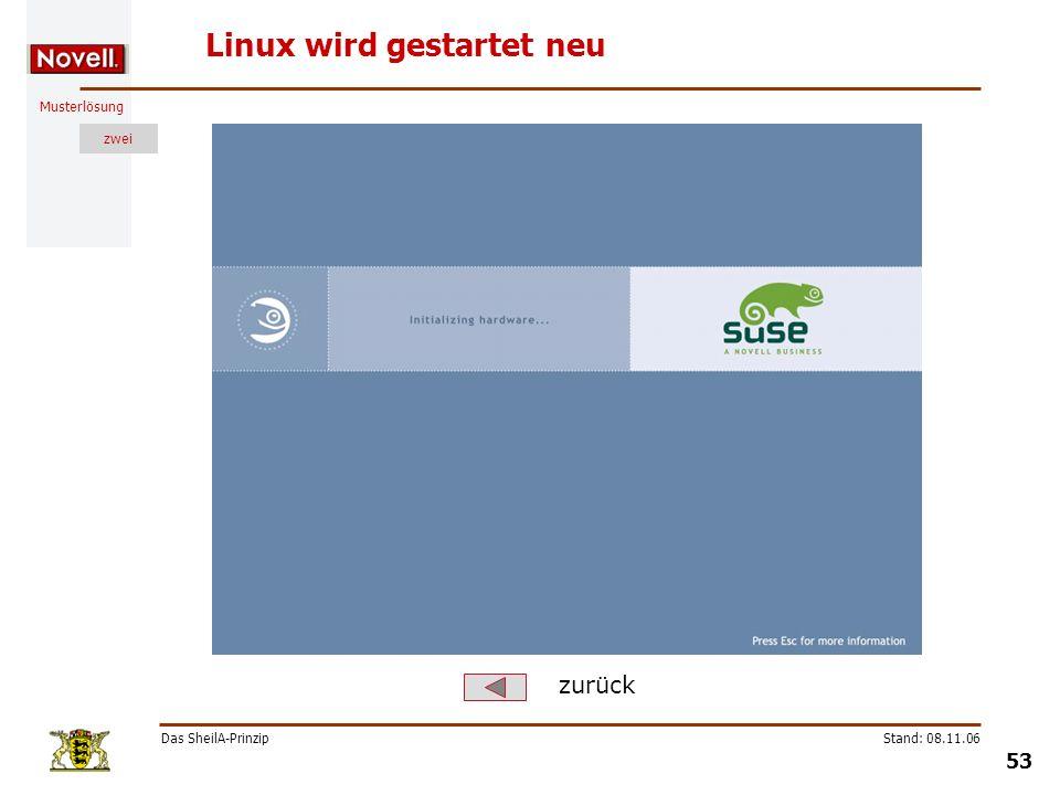 Linux wird gestartet neu