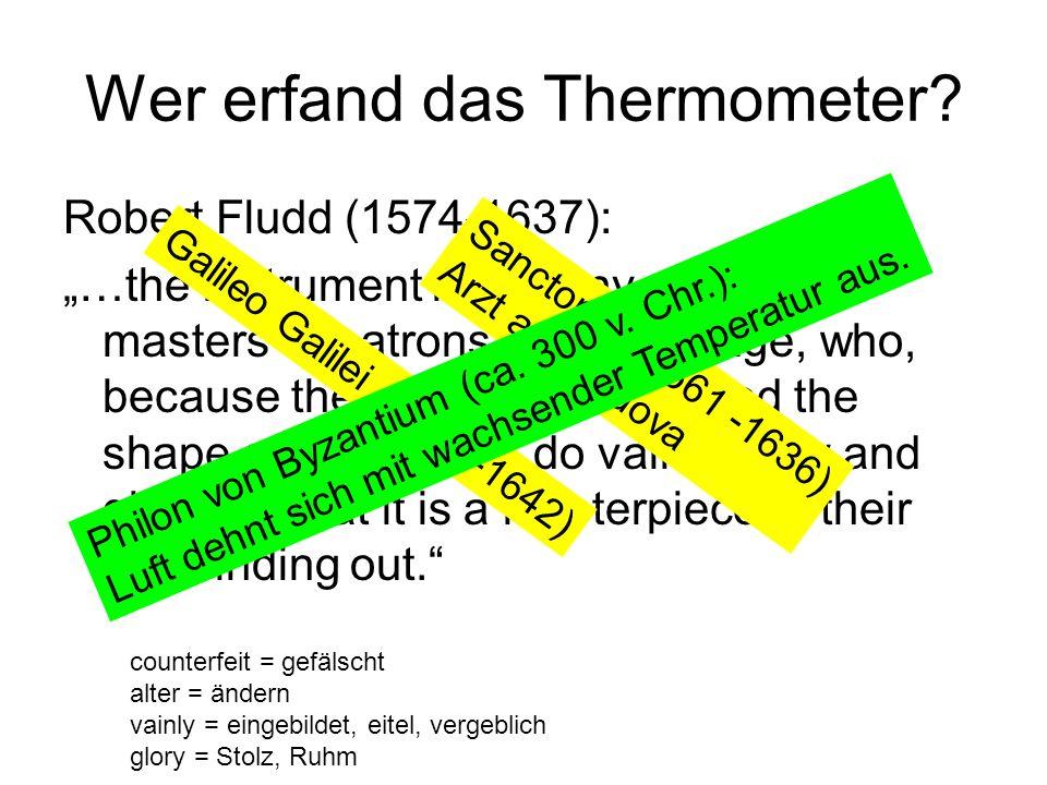Wer erfand das Thermometer