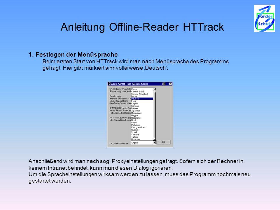 Anleitung Offline-Reader HTTrack