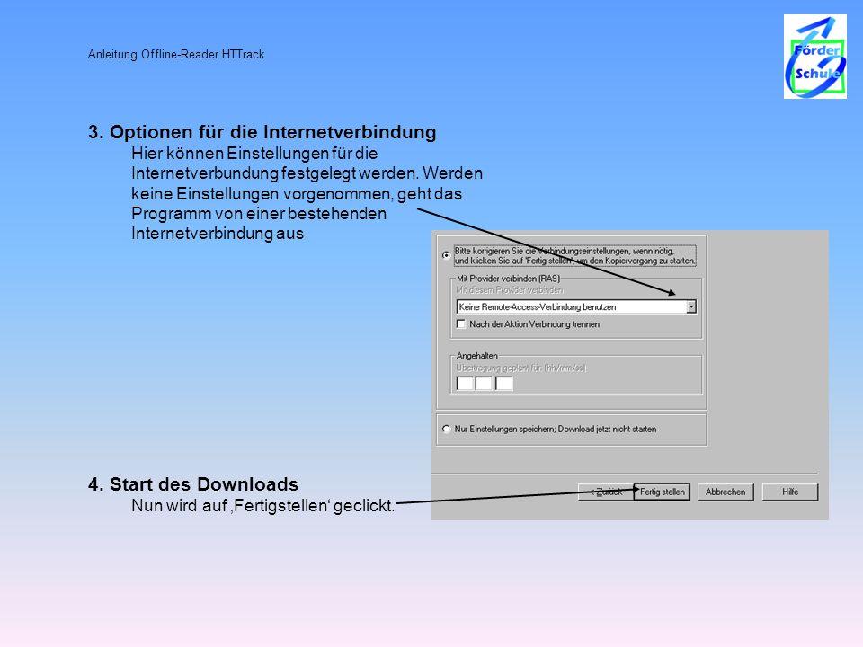 4. Start des Downloads Nun wird auf 'Fertigstellen' geclickt.