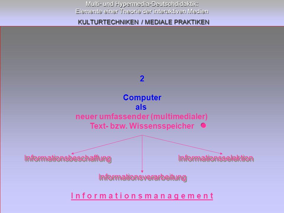 neuer umfassender (multimedialer) Text- bzw. Wissensspeicher