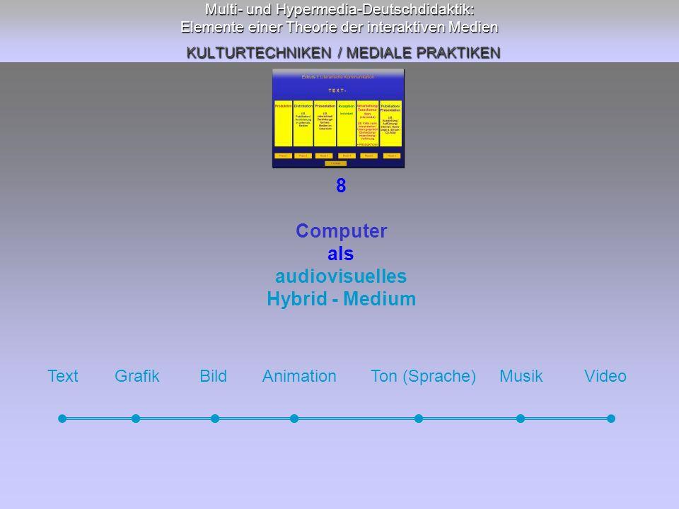 8 Computer als audiovisuelles Hybrid - Medium
