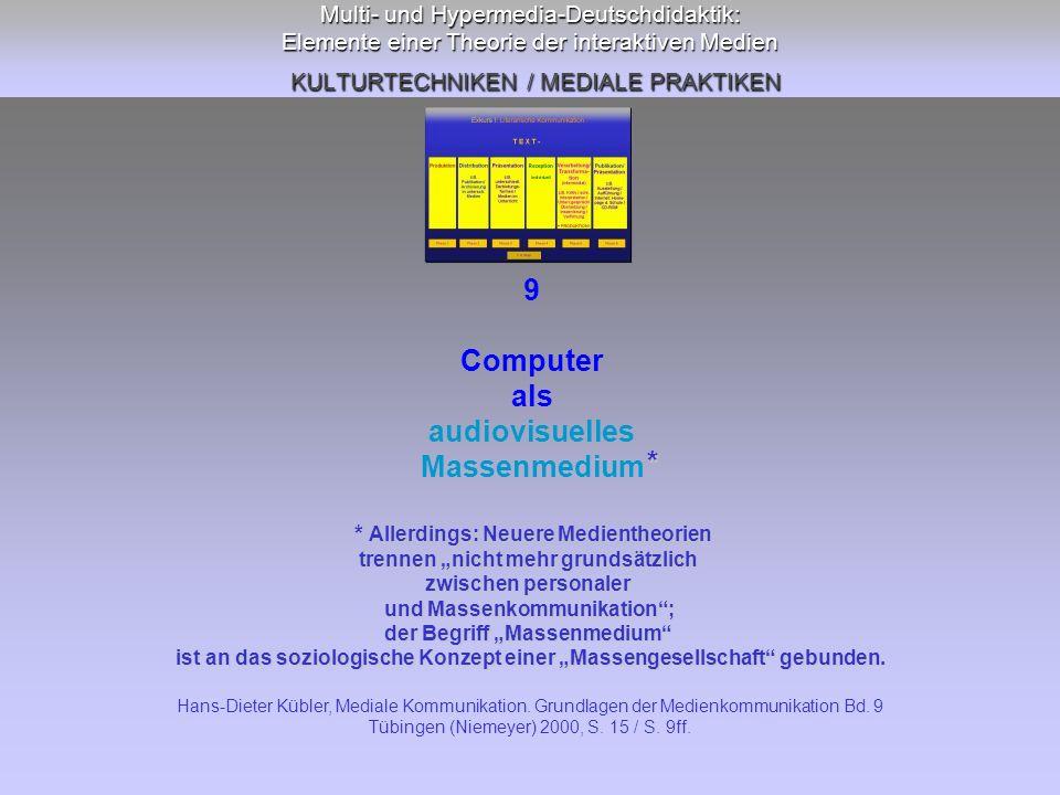 9 Computer als audiovisuelles Massenmedium *