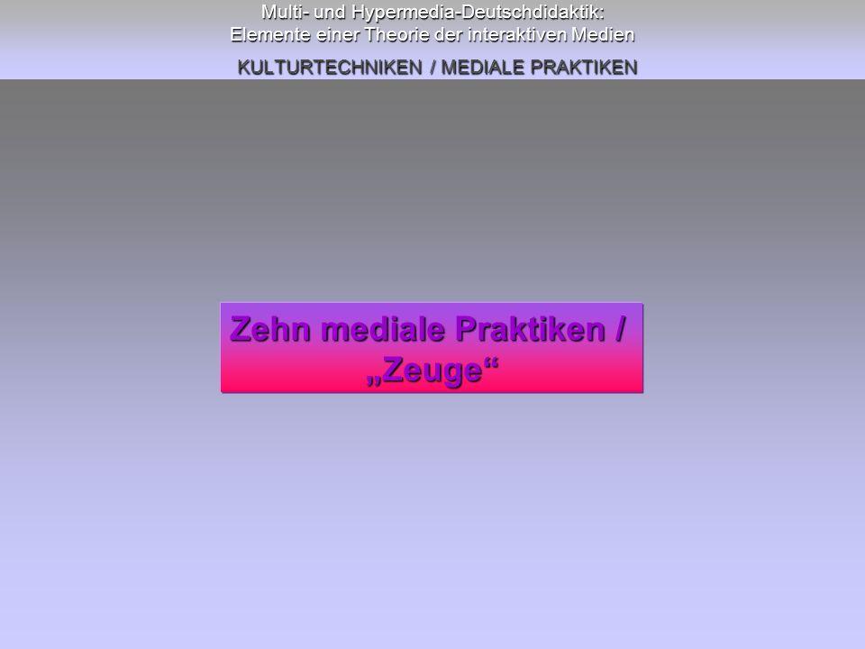 Zehn mediale Praktiken /