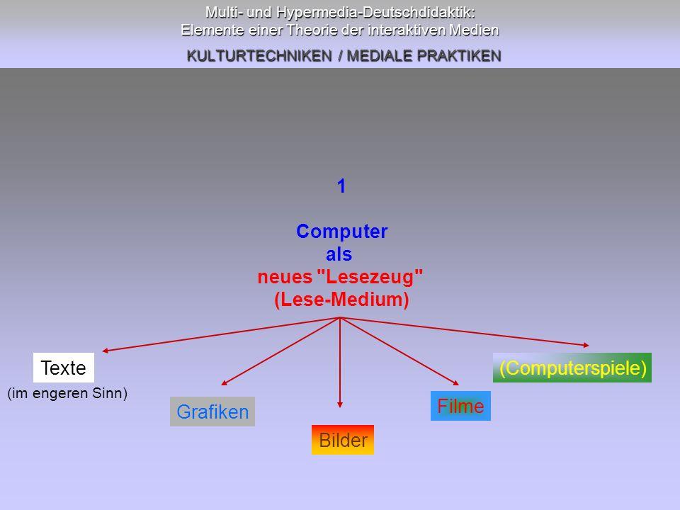 1 Computer als neues Lesezeug (Lese-Medium)