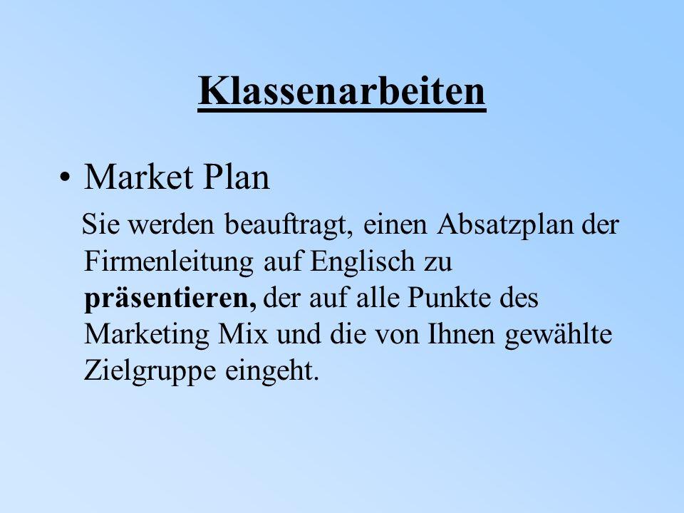 Klassenarbeiten Market Plan