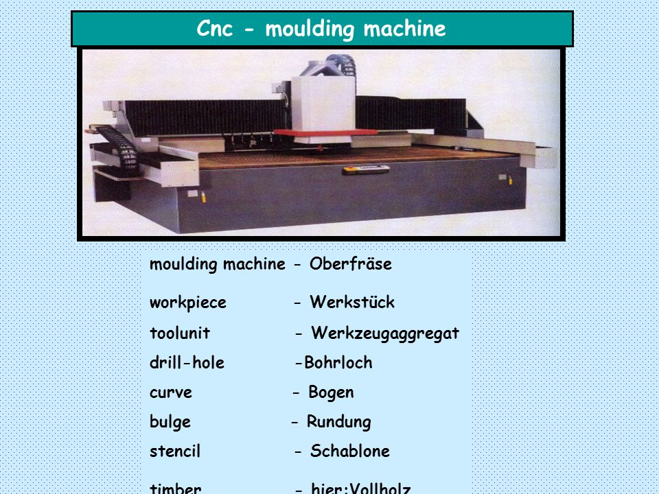 Cnc - moulding machine moulding machine - Oberfräse