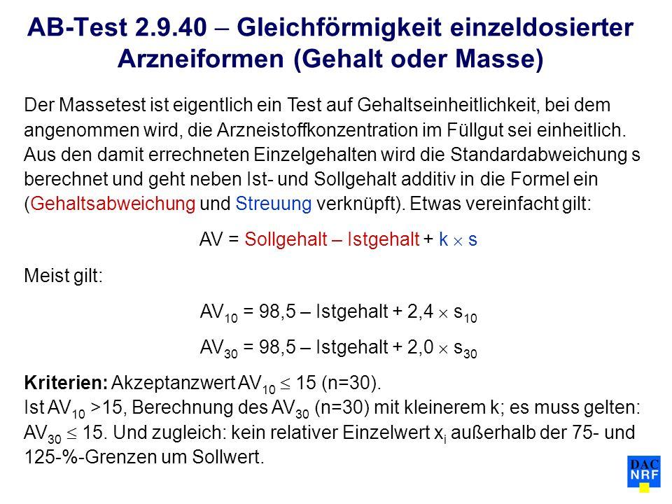 AV = Sollgehalt – Istgehalt + k  s