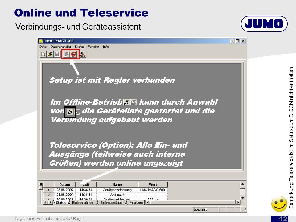 Online und Teleservice
