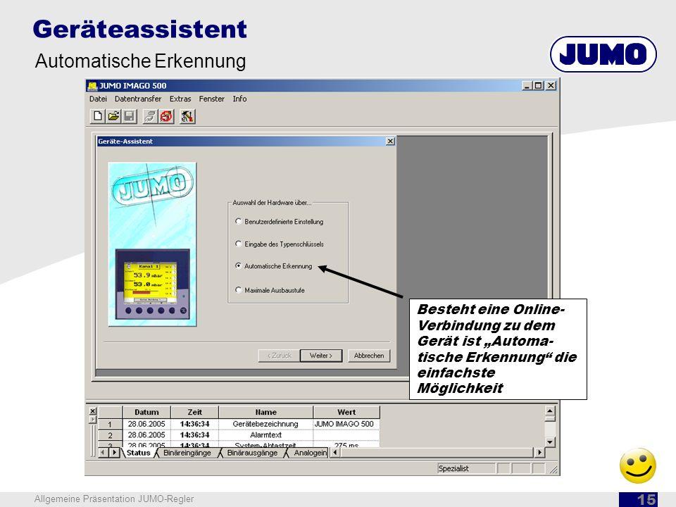 Geräteassistent Automatische Erkennung