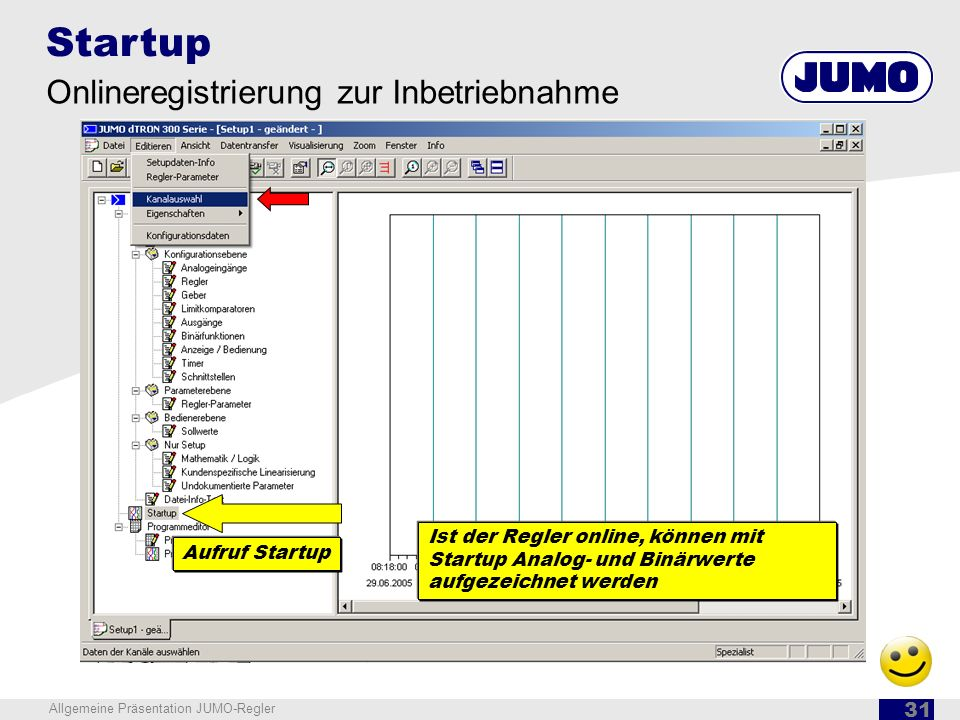 Startup Onlineregistrierung zur Inbetriebnahme