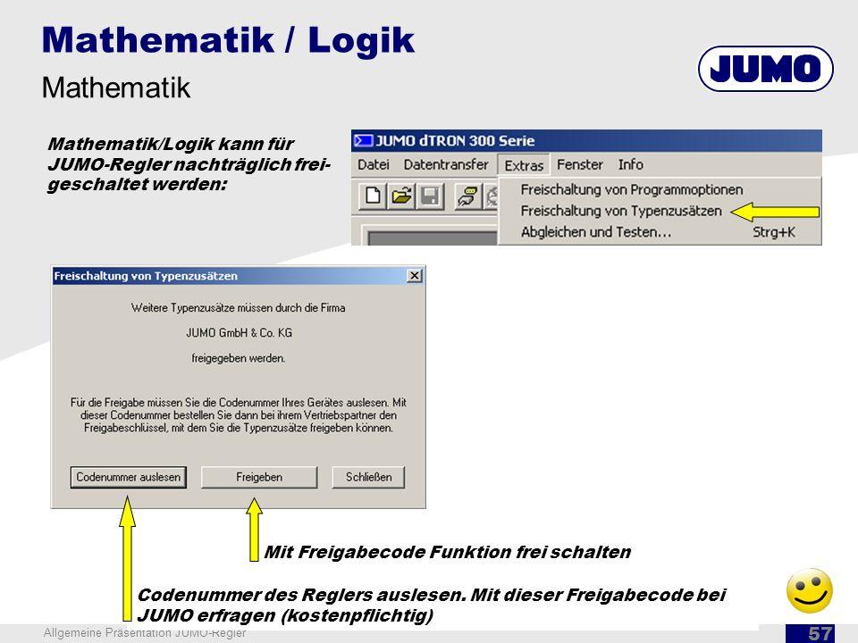 Mathematik / Logik Mathematik Mathematik/Logik kann für