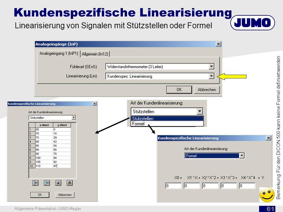 Kundenspezifische Linearisierung