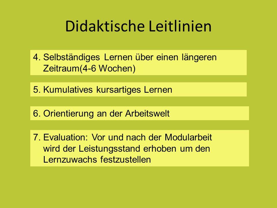 Didaktische Leitlinien