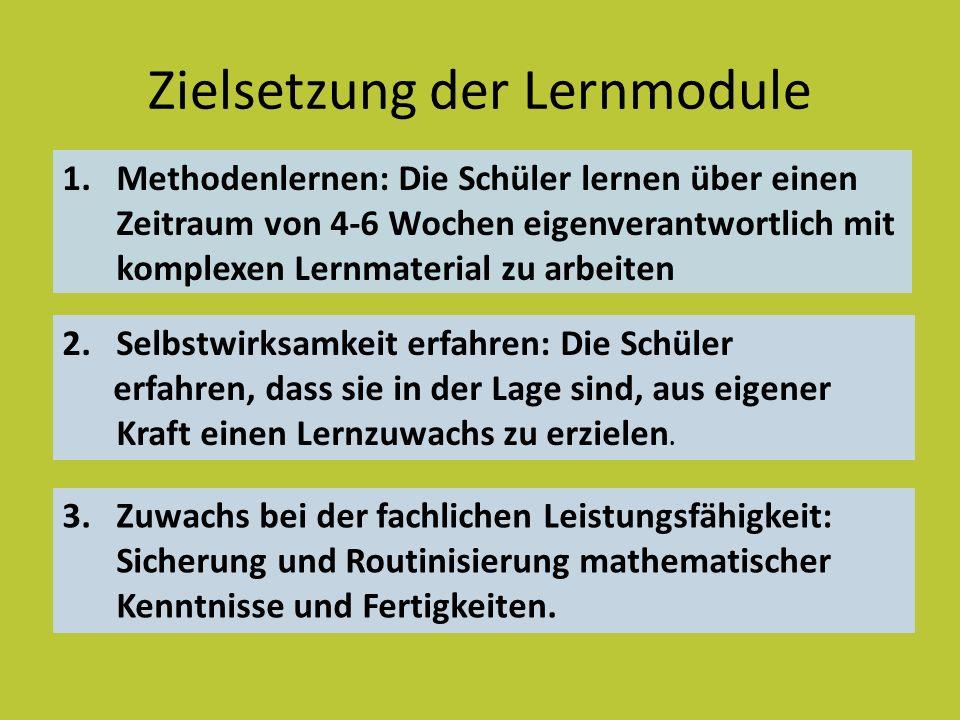 Zielsetzung der Lernmodule