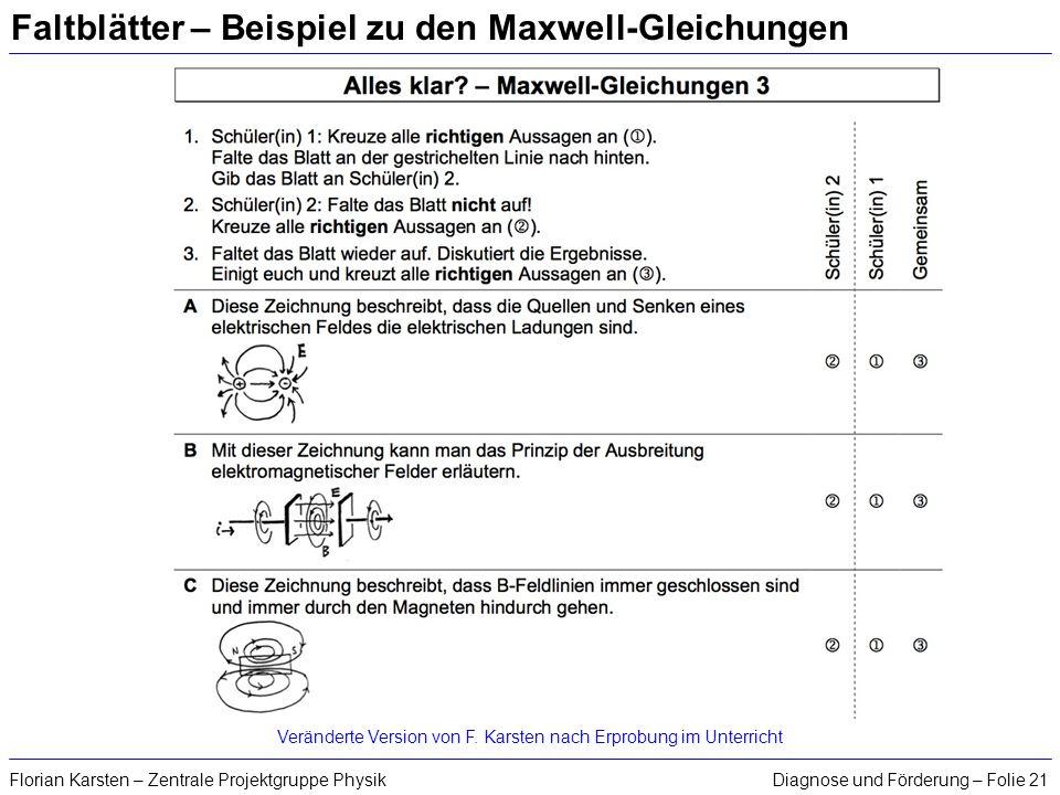 Faltblätter – Beispiel zu den Maxwell-Gleichungen