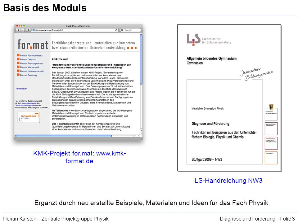 KMK-Projekt for.mat: www.kmk-format.de