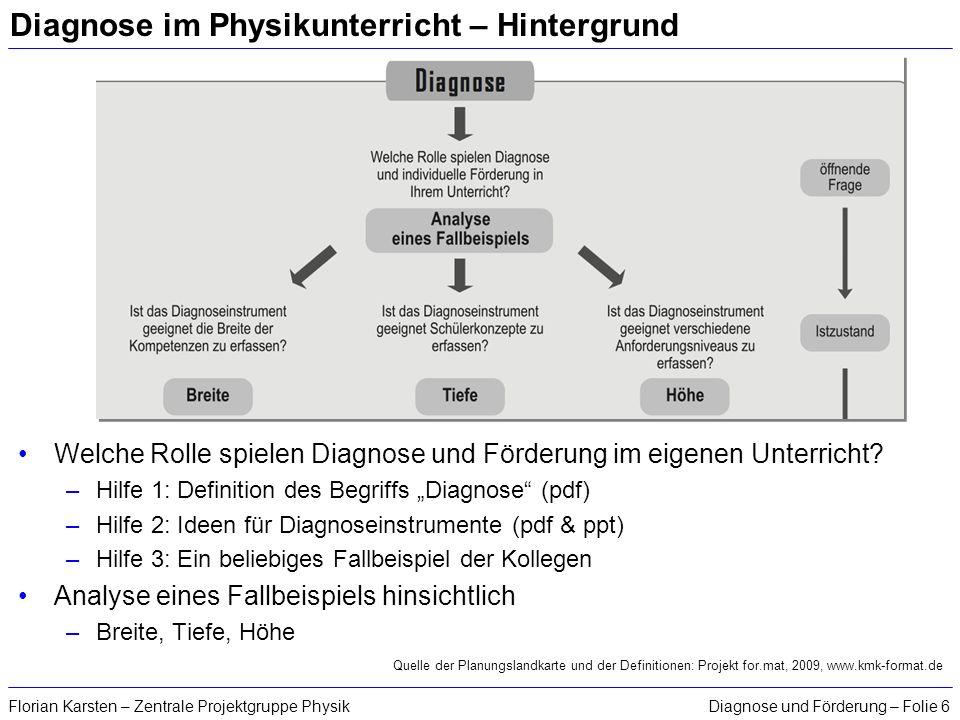 Diagnose im Physikunterricht – Hintergrund
