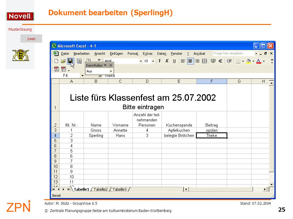Dokument bearbeiten (SperlingH)