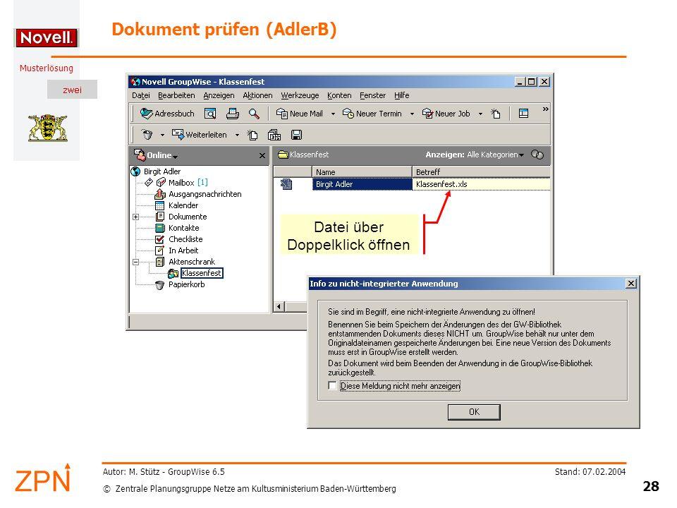 Dokument prüfen (AdlerB)