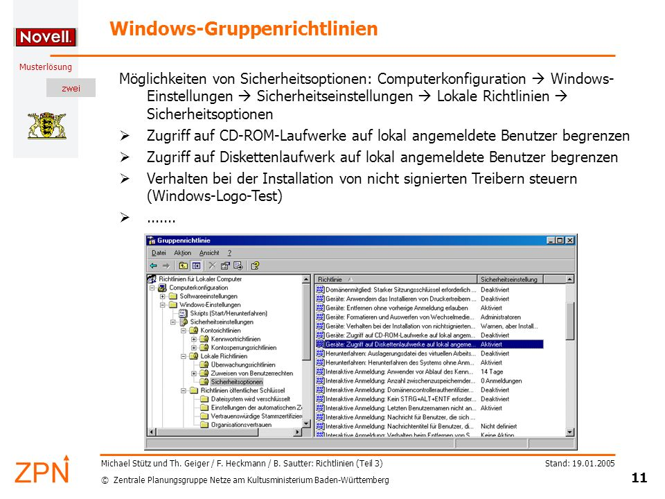 Windows-Gruppenrichtlinien