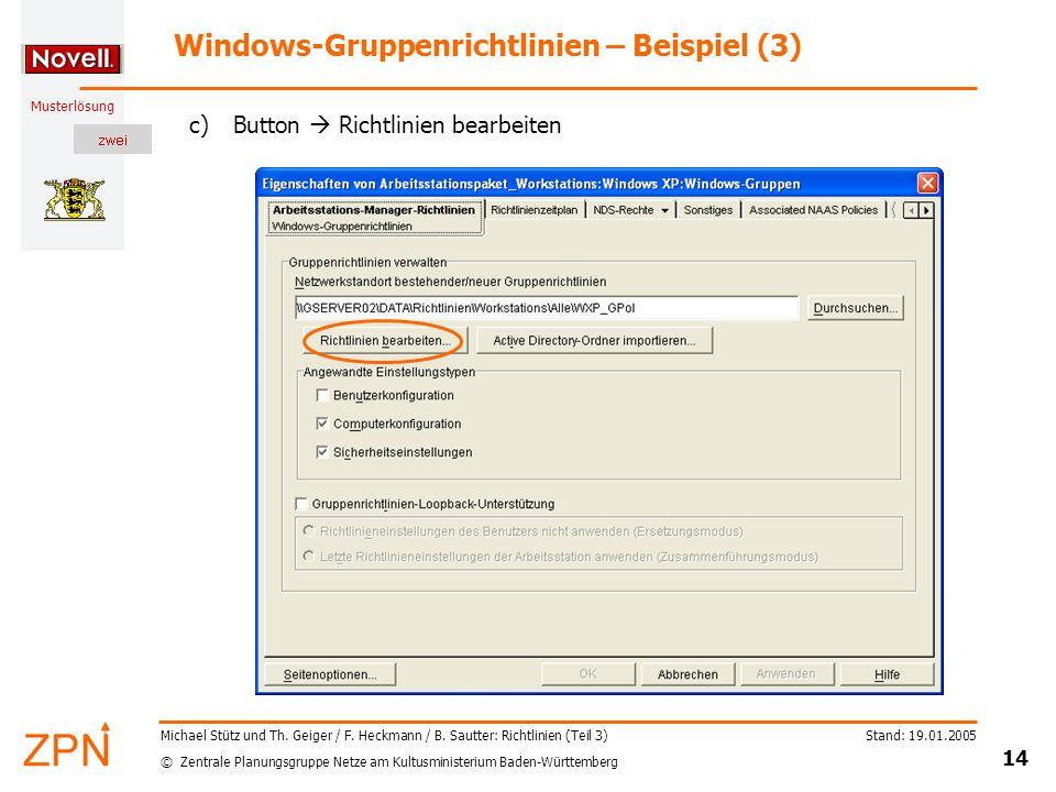 Windows-Gruppenrichtlinien – Beispiel (3)