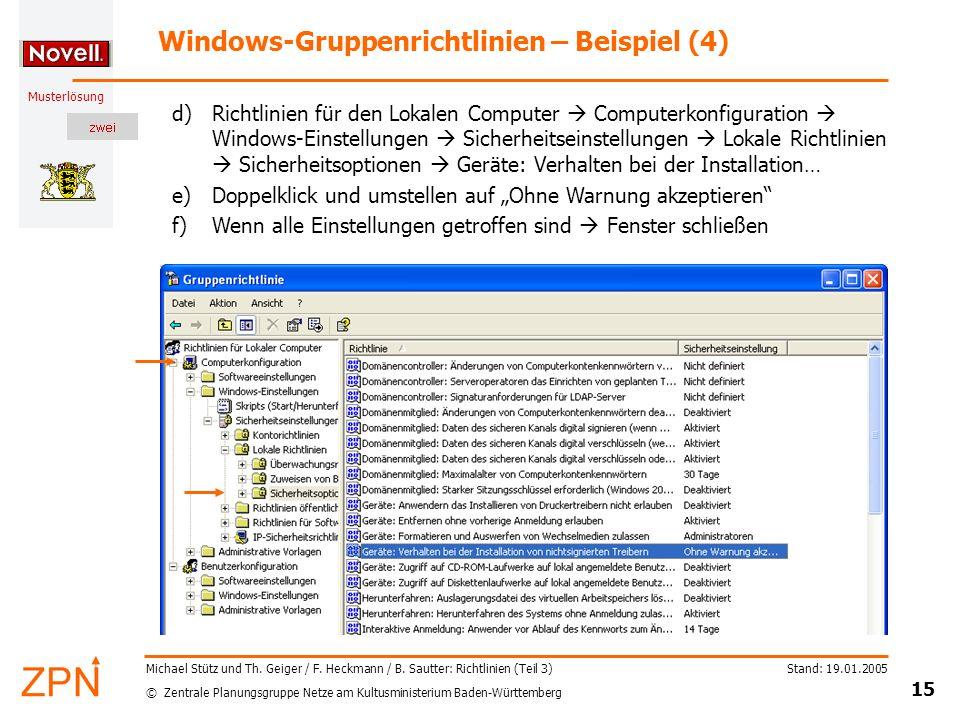 Windows-Gruppenrichtlinien – Beispiel (4)