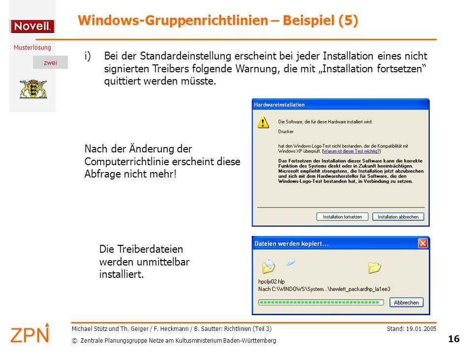 Windows-Gruppenrichtlinien – Beispiel (5)