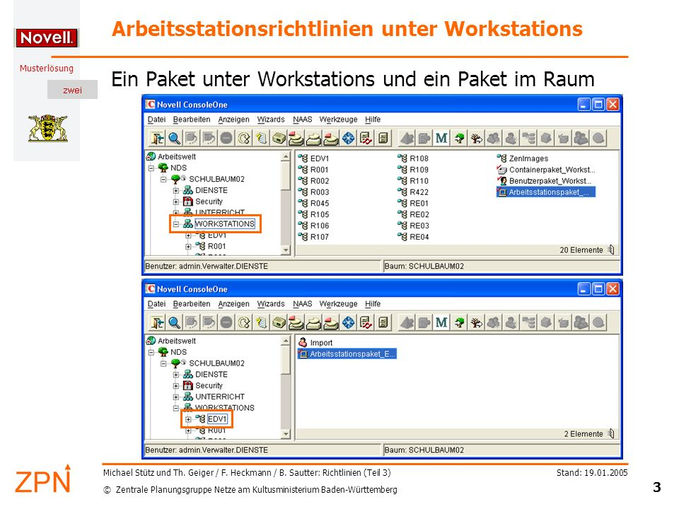 Arbeitsstationsrichtlinien unter Workstations
