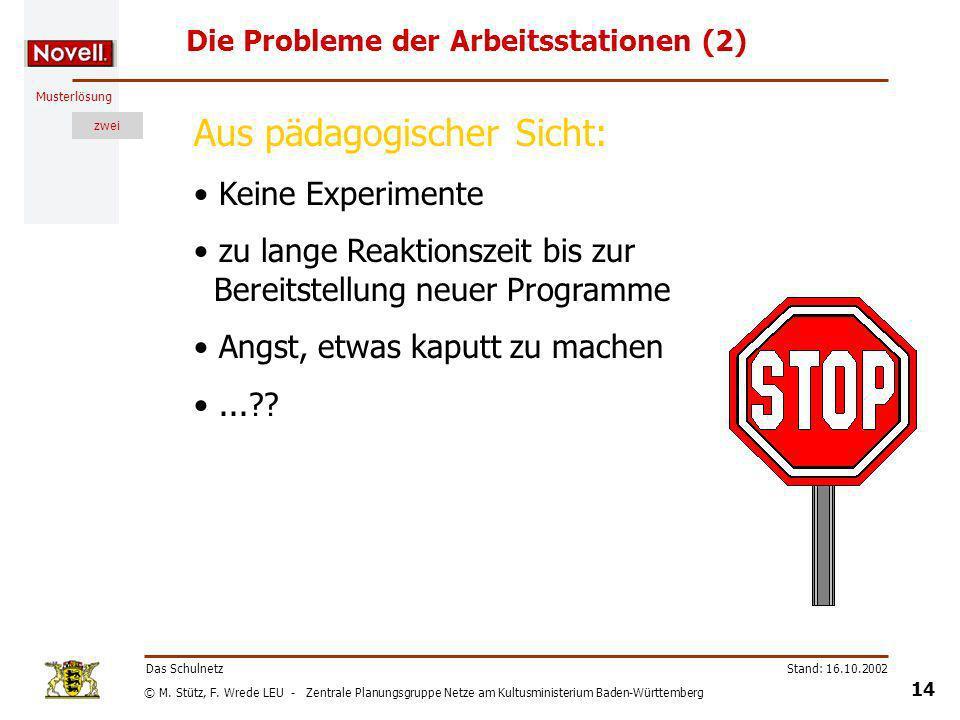 Die Probleme der Arbeitsstationen (2)