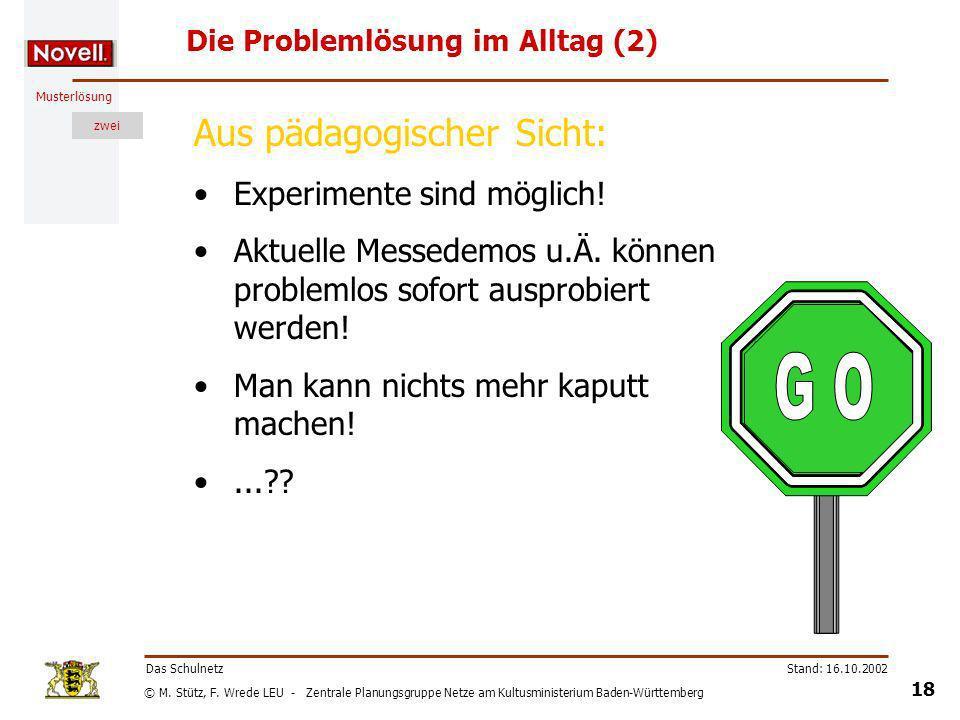 Die Problemlösung im Alltag (2)