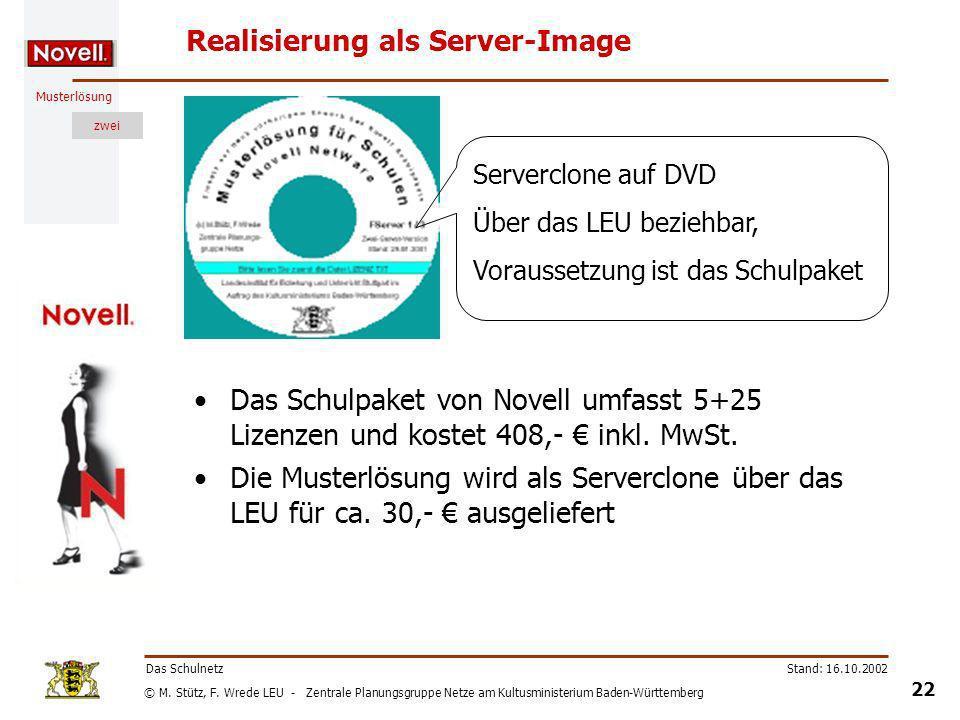Realisierung als Server-Image