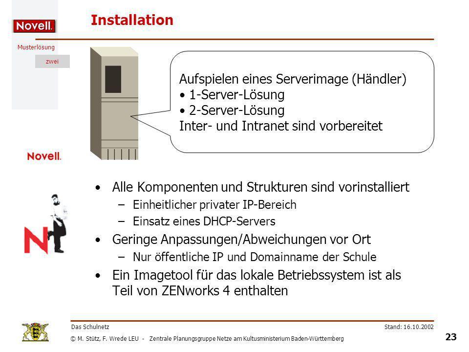 Installation Aufspielen eines Serverimage (Händler) 1-Server-Lösung