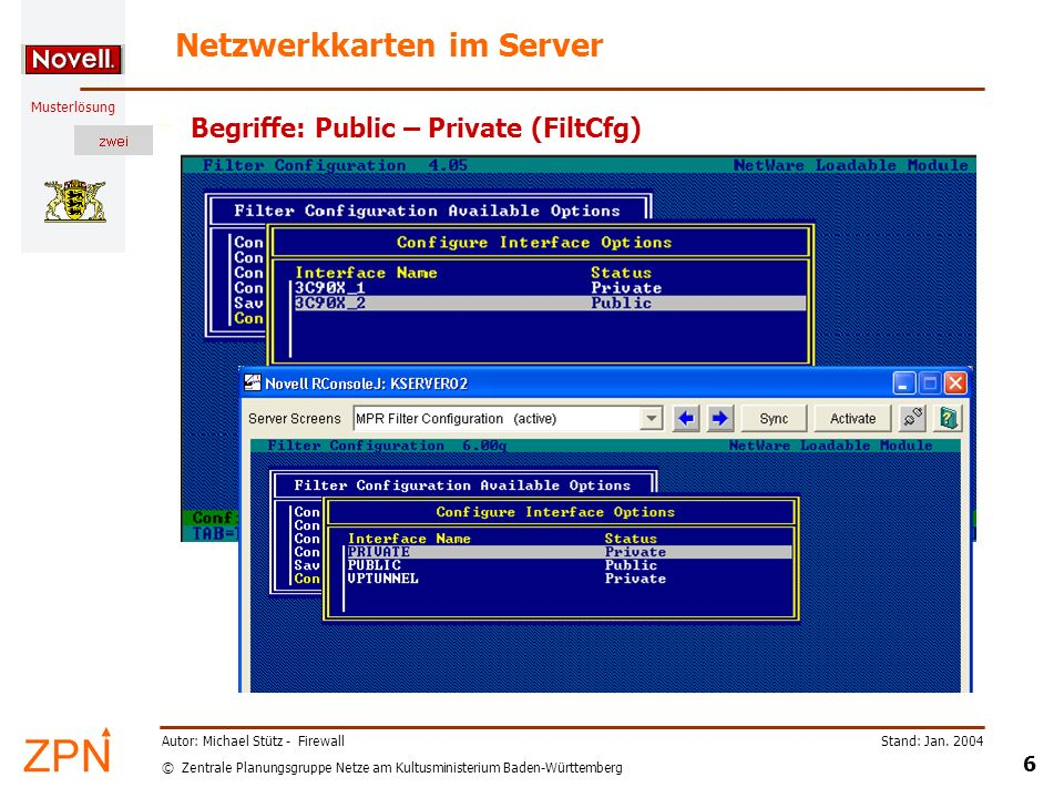 Netzwerkkarten im Server