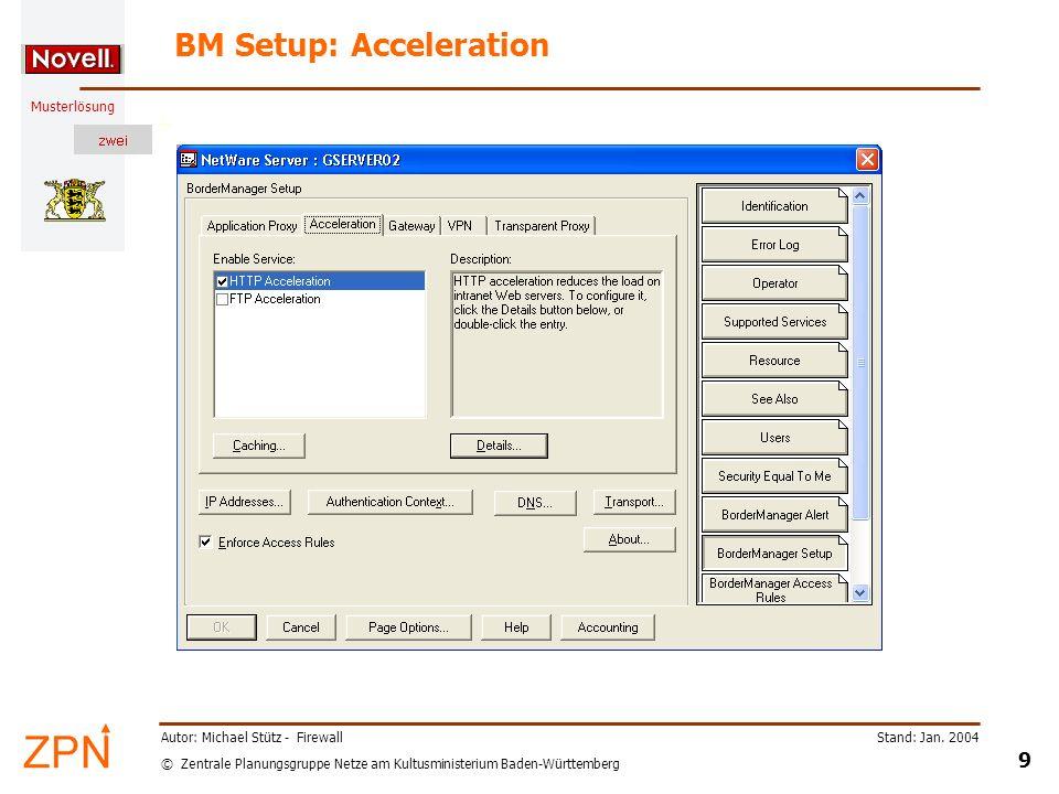 BM Setup: Acceleration