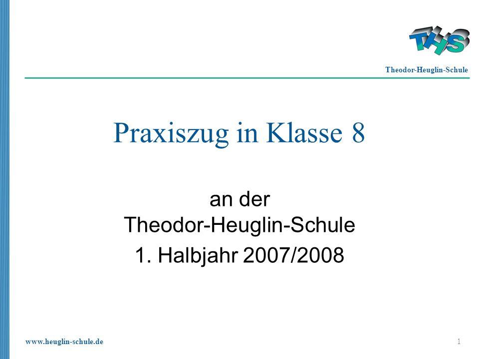 an der Theodor-Heuglin-Schule 1. Halbjahr 2007/2008