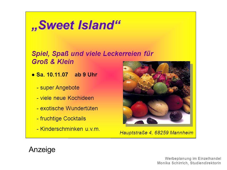 """Sweet Island Anzeige"