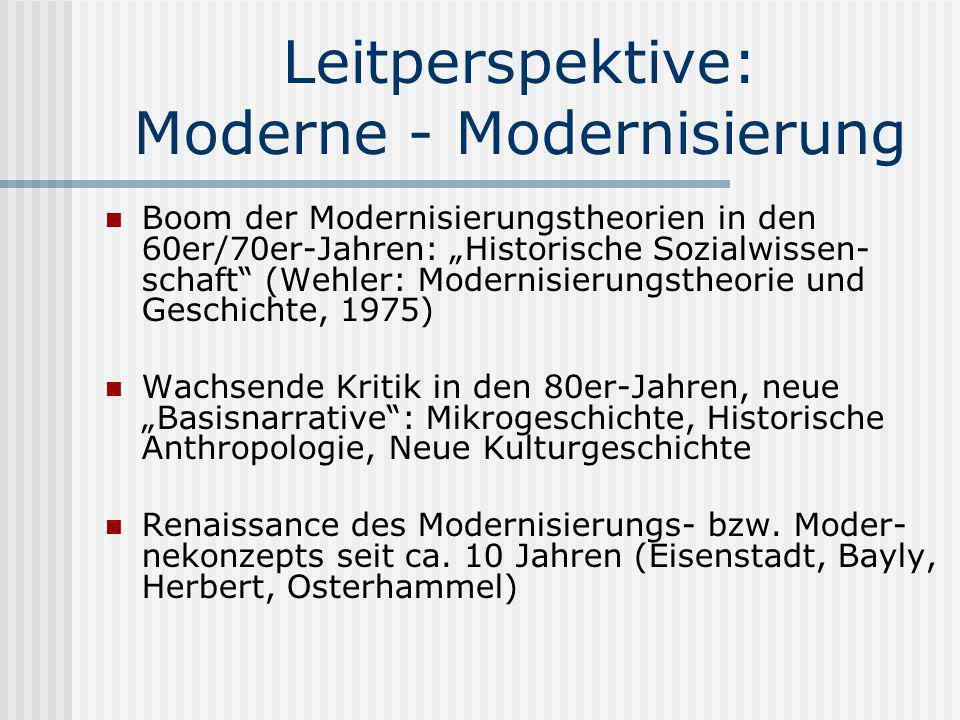 Leitperspektive: Moderne - Modernisierung