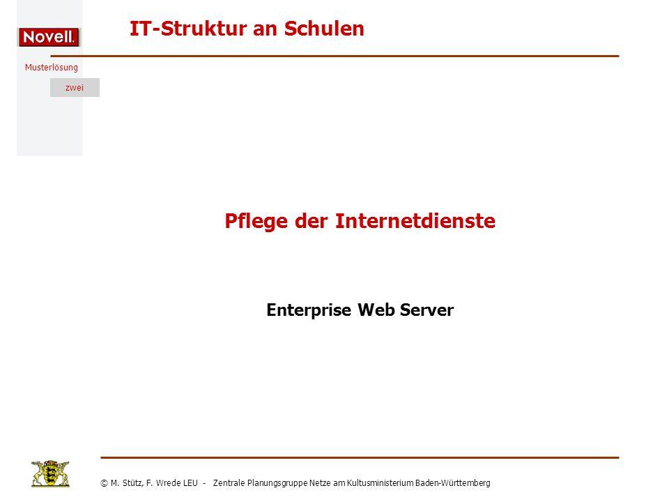Pflege der Internetdienste
