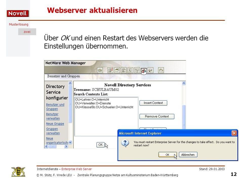 Webserver aktualisieren
