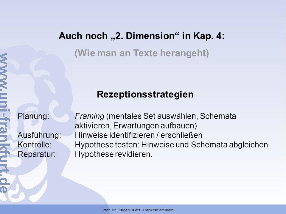 "Auch noch ""2. Dimension in Kap. 4: (Wie man an Texte herangeht)"